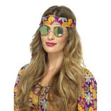 Hippie Specs 1960s Hippy Retro 60s Fancy Dress Accessory Mens Ladies Green