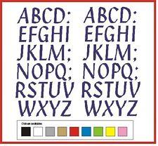 STICKY LETTERS 40mm high vinyl alphabet set A-Z Penstyle - any colour