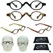 2 Pairs Readers Round Classic Small Plastic Unisex Reading Sunglasses Combo