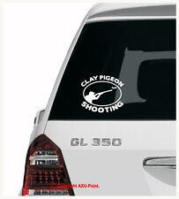 CLAY PIGEON SHOOTING  - hunting skeet trap shotgun -oval- car sticker decal