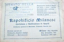 1915 KAPOKIFICIO MILANESE PIANTA IMPORTATA DALL'INDIA PER MATERASSI E CUSCINI