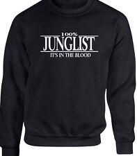 Junglist Sweatshirt T-Shirt 100% Reunion Party Gift Drum And Bass Club DJ