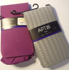 APT 9 Womens Tights Size S M or 1X Choice Purple Grey NWT Nylon/Spandex