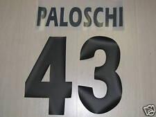 SET NOME E NUMERO 43 PALOSCHI PER MAGLIETTA HOME PARMA