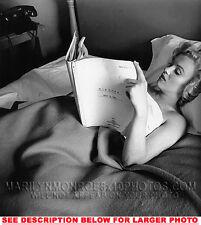 MARILYN MONROE IN BED w NIAGARA script 1xRARE4x6 PHOTO