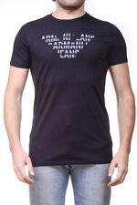 T-shirt Maglietta Armani Jeans AJ Sweatshirt % Uomo Nero 6X6T836J0AZ-1200