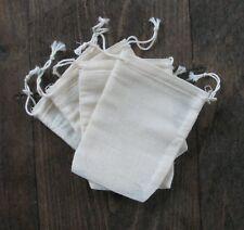 5000 Mini Cotton Muslin double Drawstring Bags