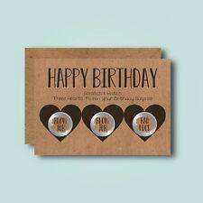 Hearts - Funny Scratch Card - Happy Birthday Rude Adult Naughty Boyfriend Love