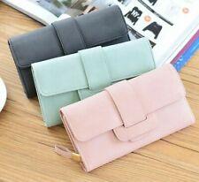 Women Leather Bifold Wallet Clutch Card Holders Lady Purse Long Handbag