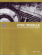 HARLEY-DAVIDSON Werkstatthandbuch 2011 FXDB Dyna Buch DEUTSCH 99481-11DE NEU OVP