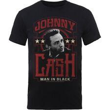 Official JOHNNY CASH Mens T-shirt THE MAN IN BLACK / Like Willie Nelson Vinyl