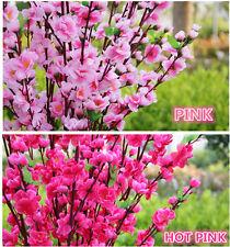 ARTIFICIAL Cherry Plum Spring Peach Blossom Spray Bunch Home/Wedding Decoration