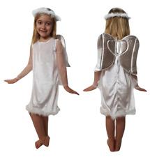 ANGEL VELOUR GIRLS CHILDRENS CHRISTMAS FANCY DRESS COSTUME NATIVITY SCHOOL PLAY