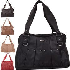 Ladies / Womens Genuine Leather Shoulder Bag / Handbag with Stud Design