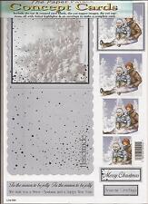 051-731 Chalk and Cheese Decoupage Sheet A4 Die Cut 3D