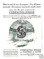 SINGER-macchina per cucito-MONZA-in tutto il MONDO-1932