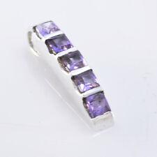 ideal Amethyst 925 Sterling Silver Purple Pendant genuine jewellery US gift