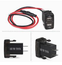 For Toyota Car USB Socket Charger LED 12V Display Voltmeter Adapter Charger New