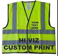 Personalised Yellow | Short Hi Vis Visibility Viz Safety Vest (60 c.m.)