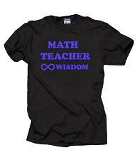 Math Teacher T-Shirt Gift For Teacher Math Teacher Wisdom Sign Tee Shirt