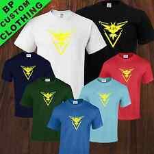 Color Team instinct Pokemon GO Fan Inspired Mens Uni-sex T-Shirt 7 colors S-5XL