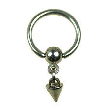 STAHL Intim PIERCING Ring mit Kette und Spitze Ohr Brust Kritoris K:5mm NEU!