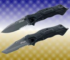 Walther Taschenmesser Einhandmesser Black Tac Pro Messer12C27 Sandvik & Holster
