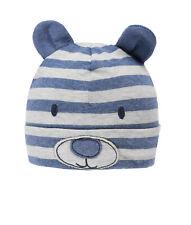 DÖLL® Baby Jungen Jersey Topfmütze Mütze Ringel Bär Grau 37-49 S 2020 NEU