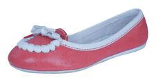 Puma Rudolf Dassler Feder Womens Leather Pumps / Flat Shoes - Red