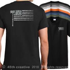 US Loggers Flag T-Shirt  american logging flag shirt usa lumberjack logger shirt