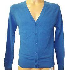 Nueva y Elegante Para Hombre Ex Nuevo Look Azul Cuello en V manga larga chaqueta de punto algodón Tamaño XS-XL