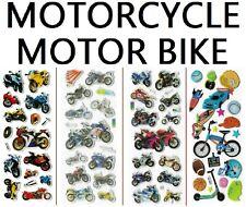 3D puffy Stickers 🏍️🚲 MOTORCYCLE BIKE MOTORBIKE CYCLE race biker