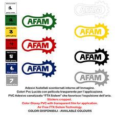 sticker helmet tuning sponsor AFAM adesivi prespaziati moto 4 pz. cm 10-15