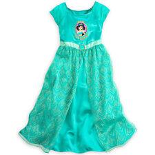 Disney Store Aladdin Princess Jasmine Short Sleeve Nightgown Pajama Girl NEW