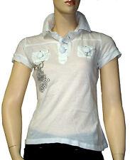 DDP Polo tee shirt femme noir blanc kaki