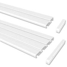 Gardinenschienen / Vorhangschienen in Weiß, Gardinenleisten Wendeprofil aus Alu