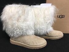 UGG Australia Lida RARE Natural LONG MONGOLIAN SHEEPSKIN CUFF BOOTS 2017 1017516
