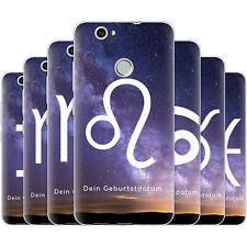 dessana Sternzeichen Horoskop Silikon Schutz Hülle Case Handy Tasche für Huawei