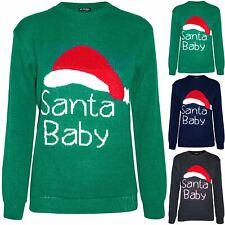 New Womens Christmas Dress Ladies Santa Baby Hat Xmas Sweater Oversized Jumper