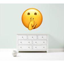Emoji emoticons sssshhh quiet silence wall car decal sticker giant bedroom