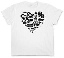CONTROLLER HEART II T-SHIRT Video Game Konsole NES Evolution Joystick Gamepad