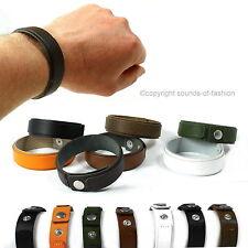 Lederarmband Herren Leder Armband Made in Germany schwarz orange braun grün sm d