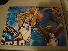 NBA DALLAS MAVERICKS Jason Terry Dirk Nowitzki caricature cartoon poster banner