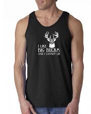 030 I like big Bucks Tank Top deer hunter fishing funny new music money new