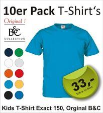 10 x Original B&C Kinder T-Shirts Kids T-Shirt Exact 150  Gr.86 bis 164 unisex