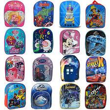 Disney Kids TV Character PVC Front School Bag Rucksack Backpack Brand New Gift