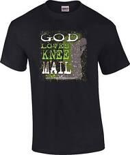 TALL Christian God Loves Knee Mail Religious Prayer T-Shirt