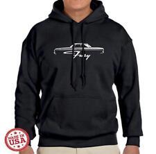 1964 Plymouth Fury Hardtop Design Hoodie Sweatshirt FREE SHIP