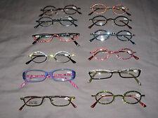 Swarovski Crystal Jeweled Reading Glasses Bling +2.00 Frames Lenses NEW!