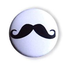 Badge MOUSTACHE mustache stache french retro vintage stylish funny pop pin Ø25mm